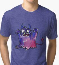 Funny Cartoon Monstar Monster 002 Tri-blend T-Shirt