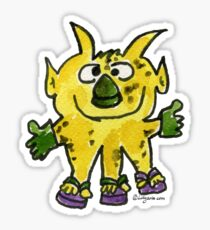 Funny Cartoon Monstar Monster 003 Sticker