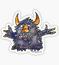 Funny Cartoon Monstar Monster 008 Sticker
