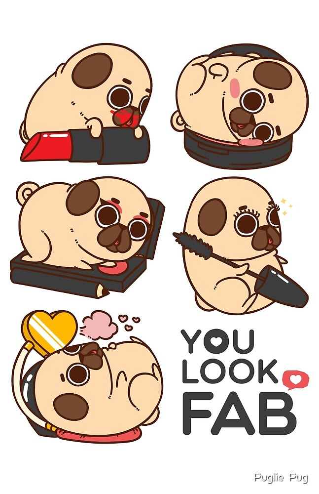 Iphone wallpaper ice cream - Quot You Look Fab Puglie Quot By Puglie Pug Redbubble