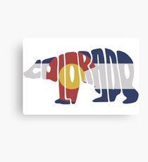 Colorado Bear Flag Canvas Print