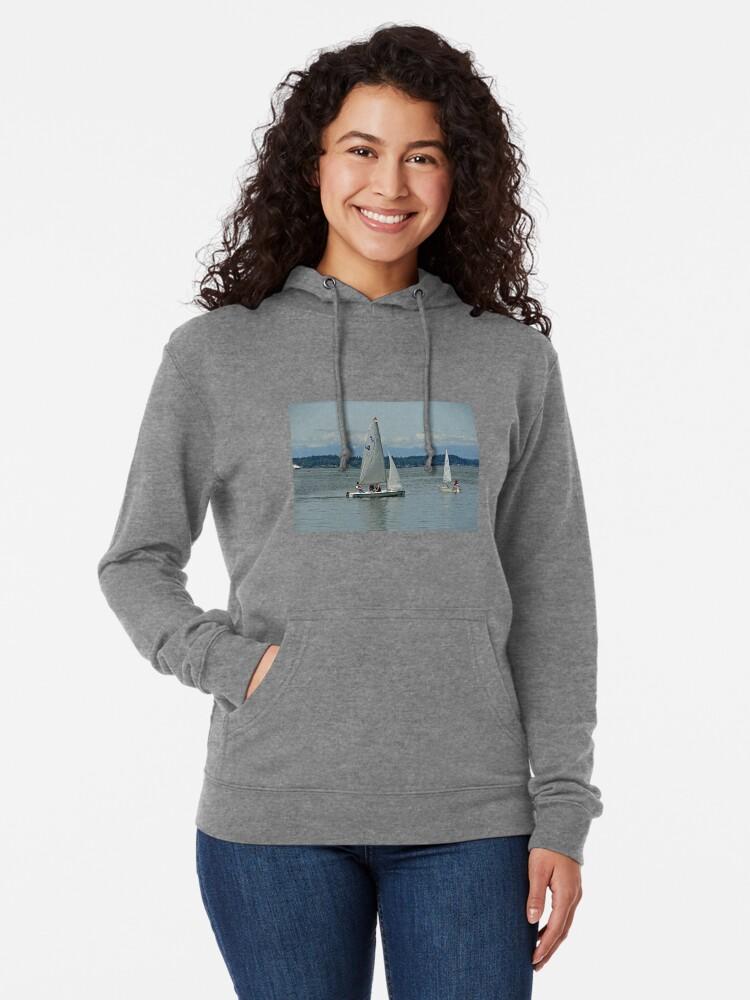 Alternative Ansicht von South Puget Sound Sailing Leichter Hoodie