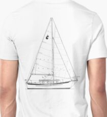 Dana 24 sail plan T shirt (printed on BACK) T-Shirt