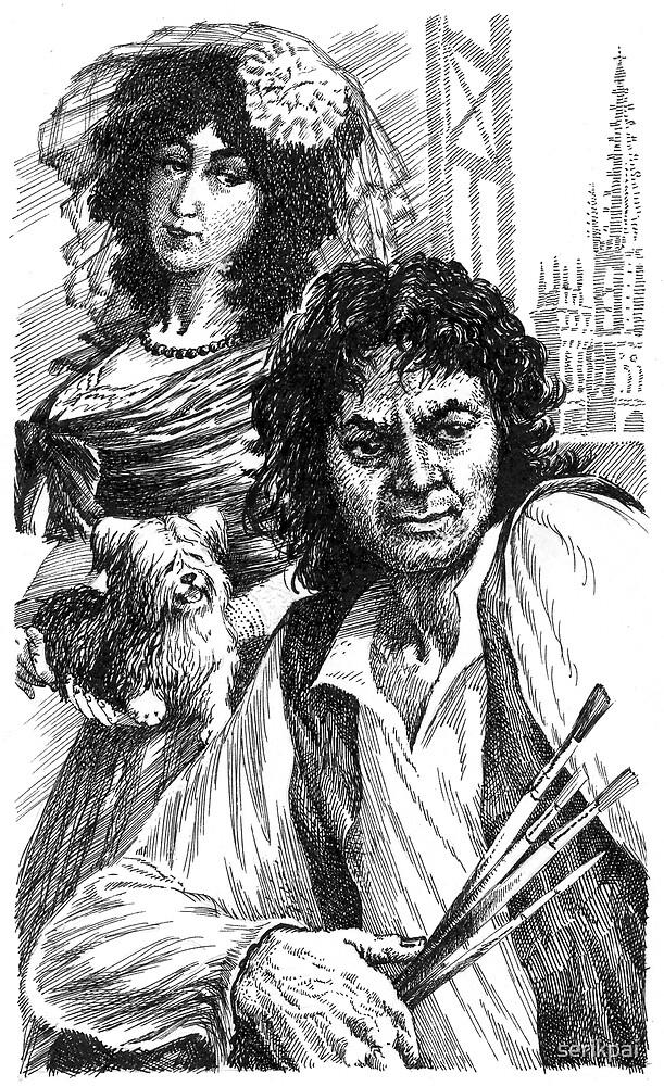 Francisco Goya ( Ink, pen ) by serikpai
