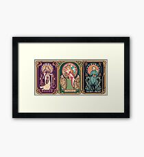 Video Game Nouveau Framed Print