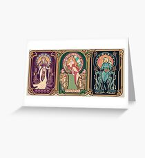 Video Game Nouveau Greeting Card