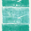 Landscape - Blue Green Monolith Three Times by Nadia Korths