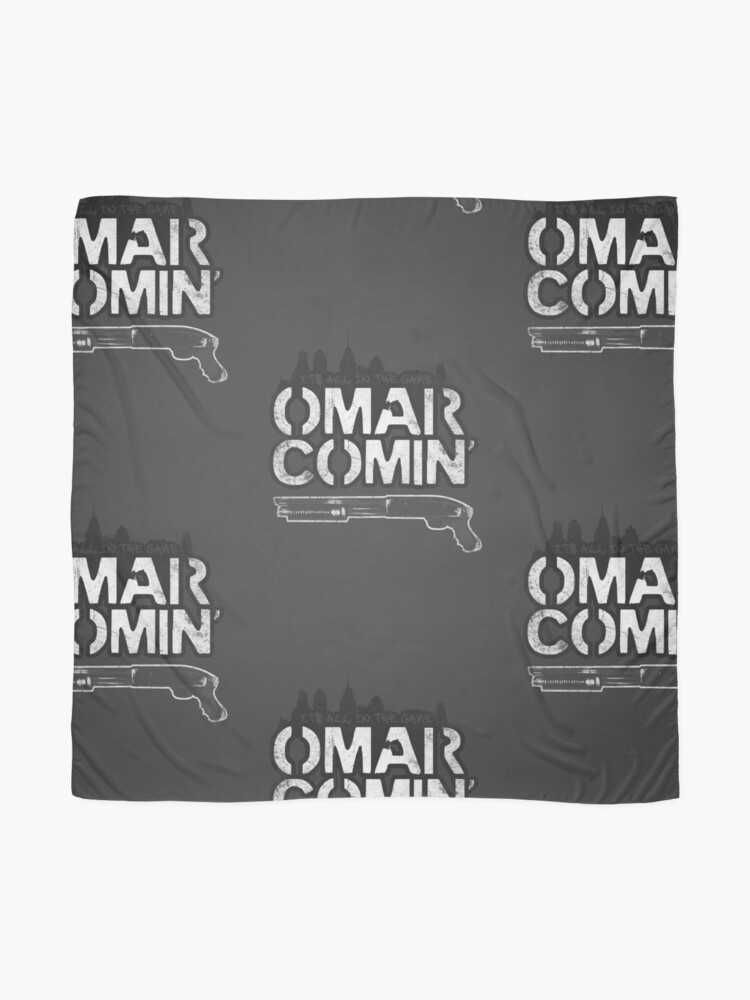 Alternate view of Omar Comin' Scarf