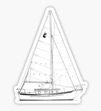 Dana 24 sail plan T shirt (Printed on FRONT) Sticker