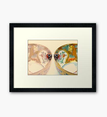 Sympathy for two.... Framed Print
