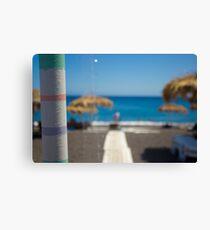 View Of Santorini's Beach Canvas Print