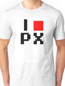 I :heart: PX (I love Pixels) Unisex T-Shirt