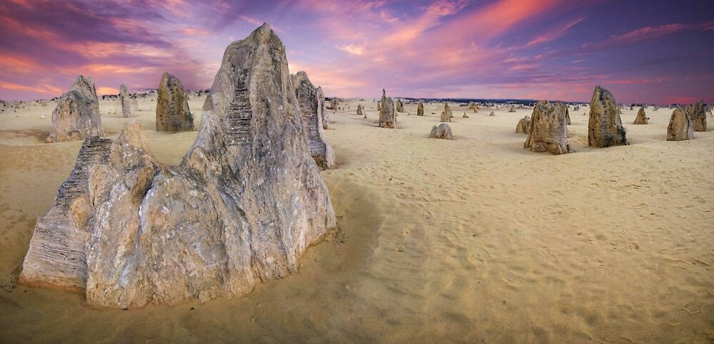 World Famous Pinnacles Desert, Western Australia by Marc Russo
