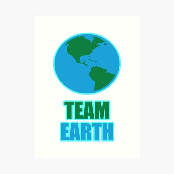 Team Earth Climate Activists Art Print