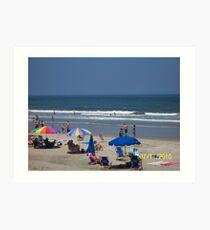 Beach scene  Art Print