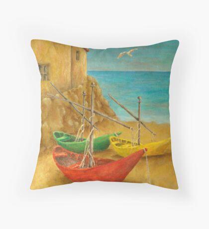 Monterosso On Riviera Di Levante Throw Pillow
