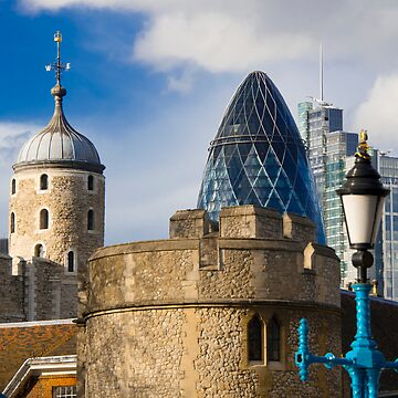 Tower and Gherkin by DonDavisUK