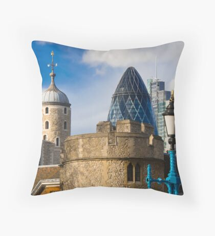 Tower and Gherkin Throw Pillow