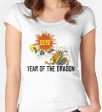 Year of The Dragon 2012 Women's Fitted Scoop T-Shirt