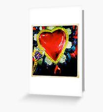 Flaming Corazón Greeting Card