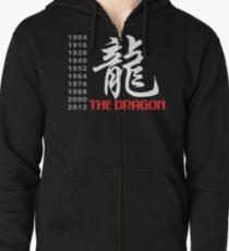 Chinese Zodiac Dragon Zipped Hoodie