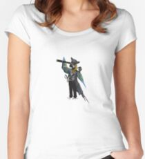 Parrots of the Caribbean v2  Women's Fitted Scoop T-Shirt