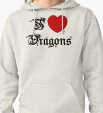 I Love Dragons Pullover Hoodie