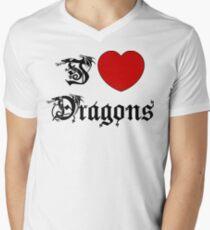 I Love Dragons Men's V-Neck T-Shirt
