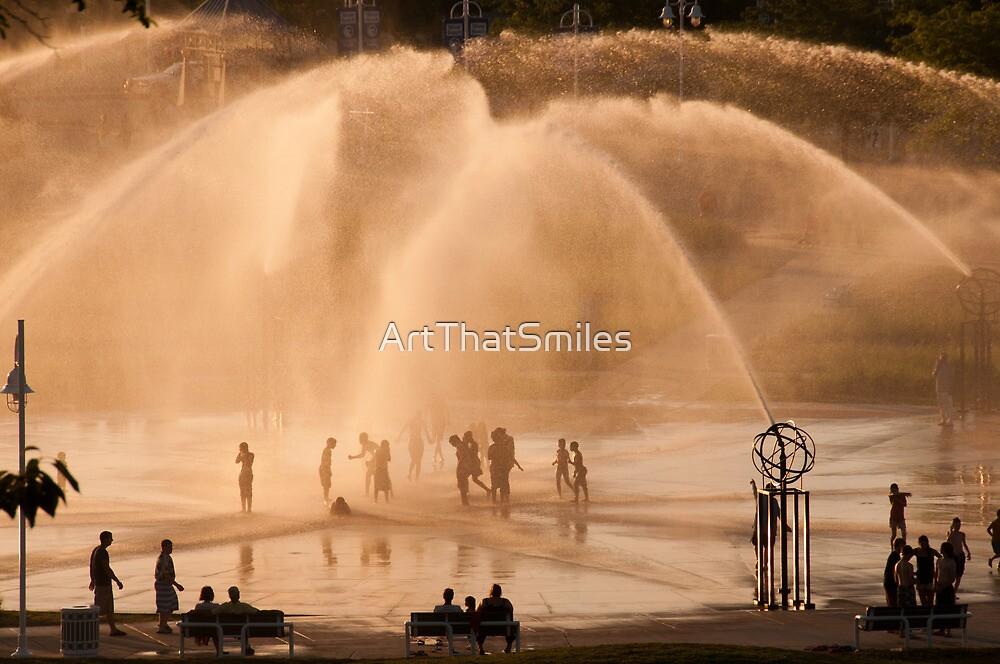 Whirlpool Compass Fountain - St. Joseph Michigan by ArtThatSmiles