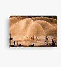 Whirlpool Compass Fountain - St. Joseph Michigan Canvas Print
