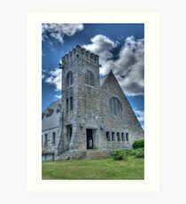 Old Stone Church ~ W. Boylston, MA ~ HDR Art Print