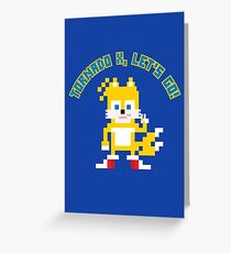8Bit Tails Greeting Card