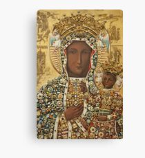 Our Lady of Czestochowa Bejeweled Picture Canvas Print