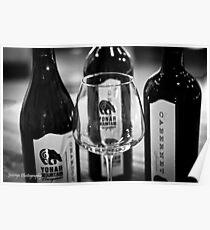 Yonah Mountain Wine - B&W Poster