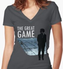 The Great Game Women's Fitted V-Neck T-Shirt