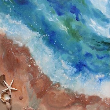 Seashore with Shells by LindaZArtist