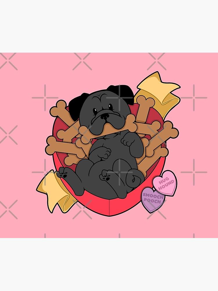 Valentines Box of Chocolates — Black Pug by PupcakesCupcats