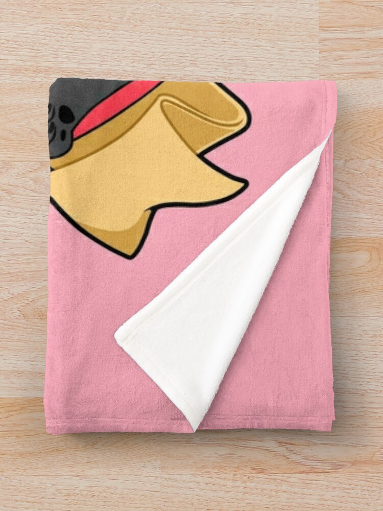 Alternate view of Valentines Box of Chocolates — Black Pug Throw Blanket