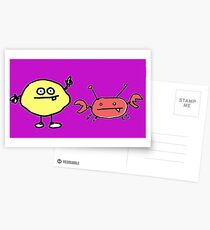 lemon v crabby Postcards