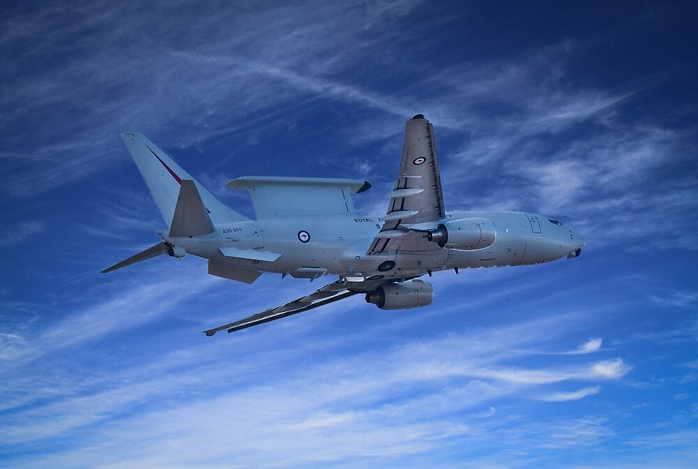 RAAF , E-7A ,Wedgetail in seach of MH-370 by Marc Russo