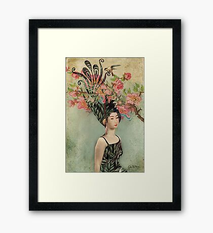 the cherry tree Framed Print