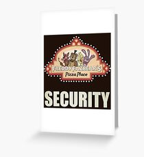 Five Nights at Freddy's - FNAF - Freddy Fazbear's Security Logo Greeting Card