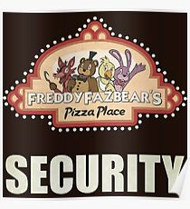 Five Nights at Freddy's - FNAF - Freddy Fazbear's Security Logo Poster