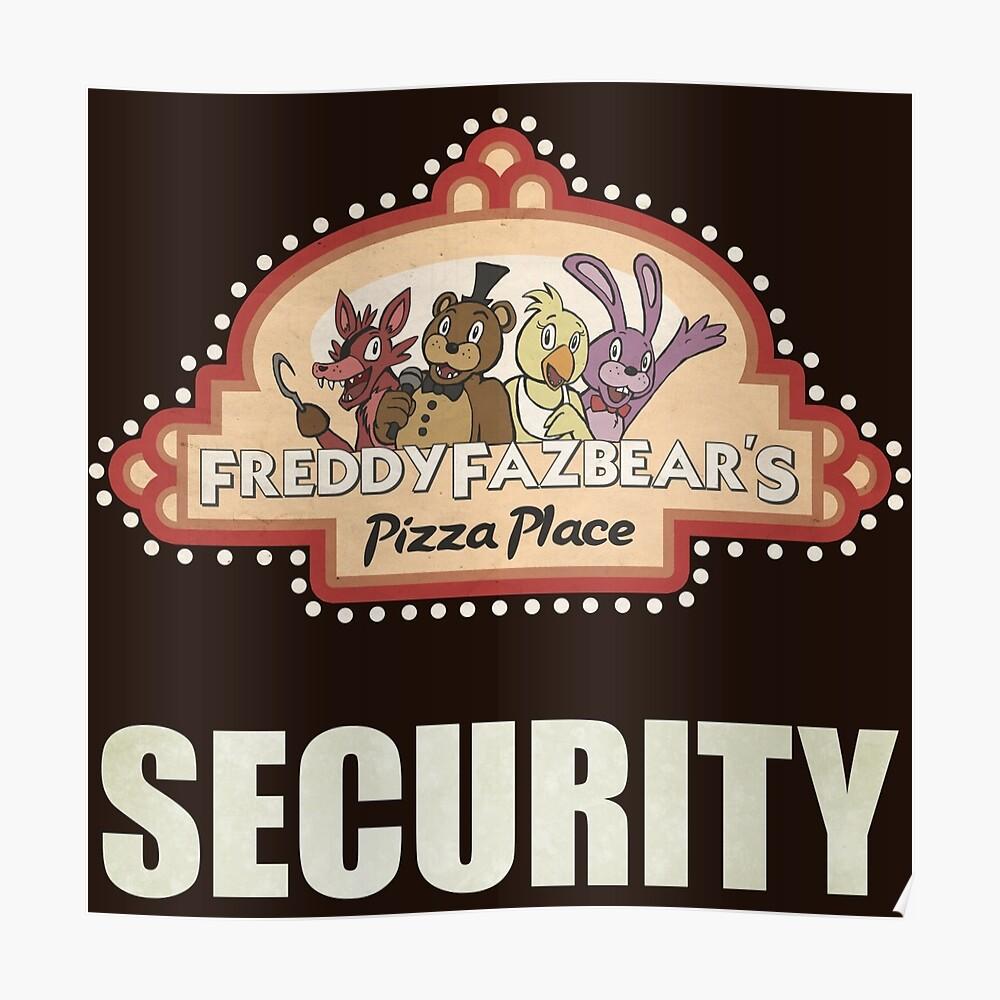 Cinco noches en Freddy's - FNAF - Logotipo de seguridad de Freddy Fazbear Póster