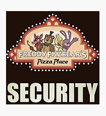 Five Nights at Freddy's - FNAF - Freddy Fazbear's Security Logo Photographic Print