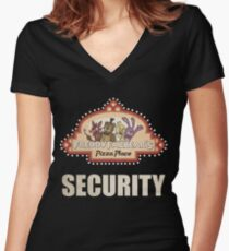Five Nights at Freddy's - FNAF - Freddy Fazbear's Security Logo Women's Fitted V-Neck T-Shirt