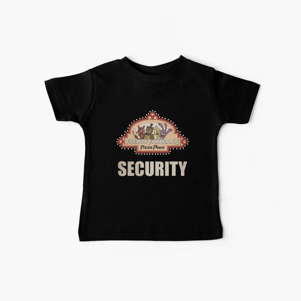 Cinco noches en Freddy's - FNAF - Logotipo de seguridad de Freddy Fazbear Camiseta para bebés