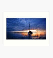 As the Sun Sinks Slowly into the West - South Stradbroke Island Art Print
