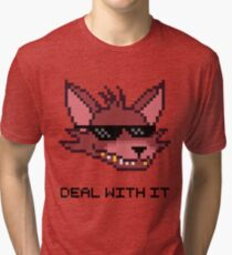 Five Nights at Freddy's - FNAF - Foxy - Deal With It Tri-blend T-Shirt