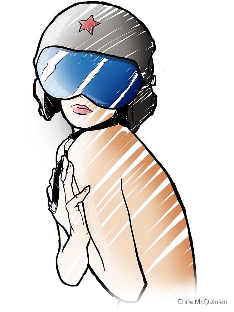 Pilot Pinup Girl by Chris McQuinlan